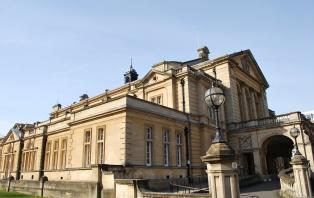 Cheltenham Town Hall steps