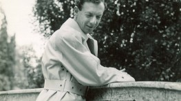 Benjamin Britten in Pittville Park Gardens at the Cheltenham Festival 1949