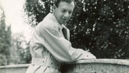 Benjamin Britten in Pittville Park Gardens at the Cheltenham Festival 1949