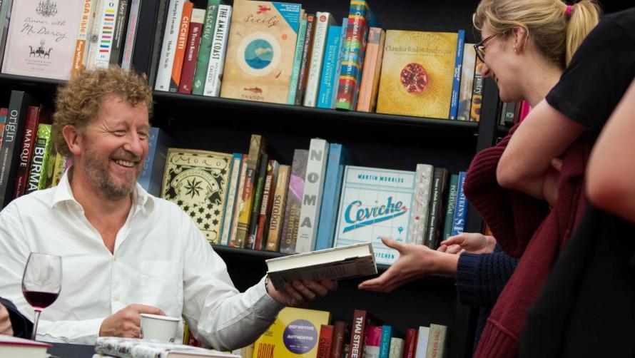 Sebastian Faulks book signing, Literature 2013