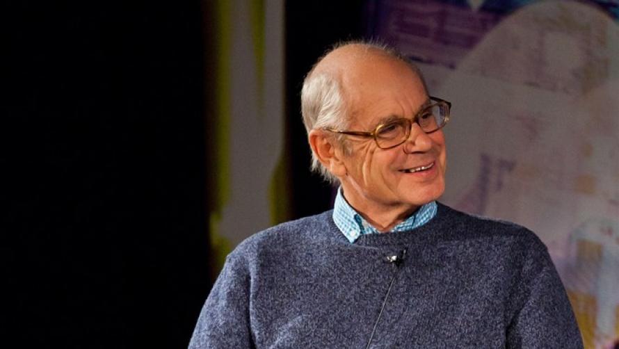 Simon Hoggart onstage The Times Cheltenham Literature Festival 2011