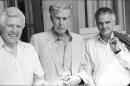 John Manduell, Michael Tippett & Peter Maxwell Davies outside Pittville Pump Room, July 1994 (Image: Martin Davis)