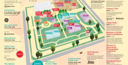 Cheltenham Science Festival Site Map 2018