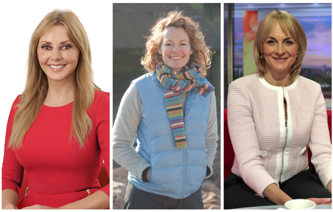 Carol Vorderman, Kate Humble, Louise Minchin