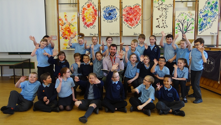 Going for a Song project 2015 featuring Michael Betteridge at St Thomas More Primary School