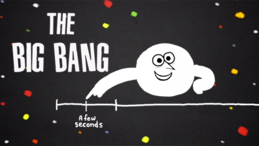 "What happened a few seconds after the Big Bang? Cosmologists and particle physicists are working hard to find the answers (from ""The Beginning of the Universe... for Beginners"" CERN/TED ED/Hornet Inc.)"