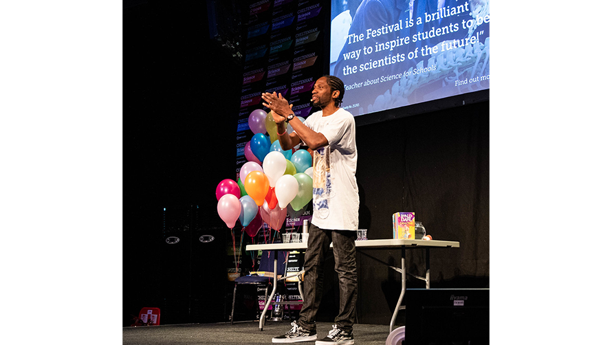 Jon Chase performing The Splendiferous Science of Roald Dahl.jpg