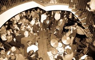 A late night Jazz Festival jam session at Hotel du Vin