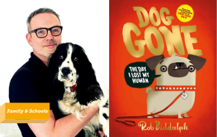 Rob Biddulph with his dog, Ringo