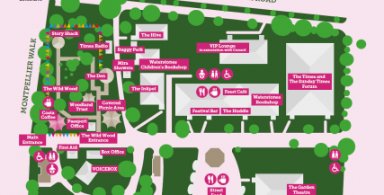 Festival Village Map The Times and The Sunday Times Cheltenham Literature Festival 2021