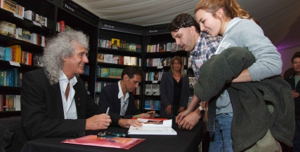 Brian May book signing, Literature 2013