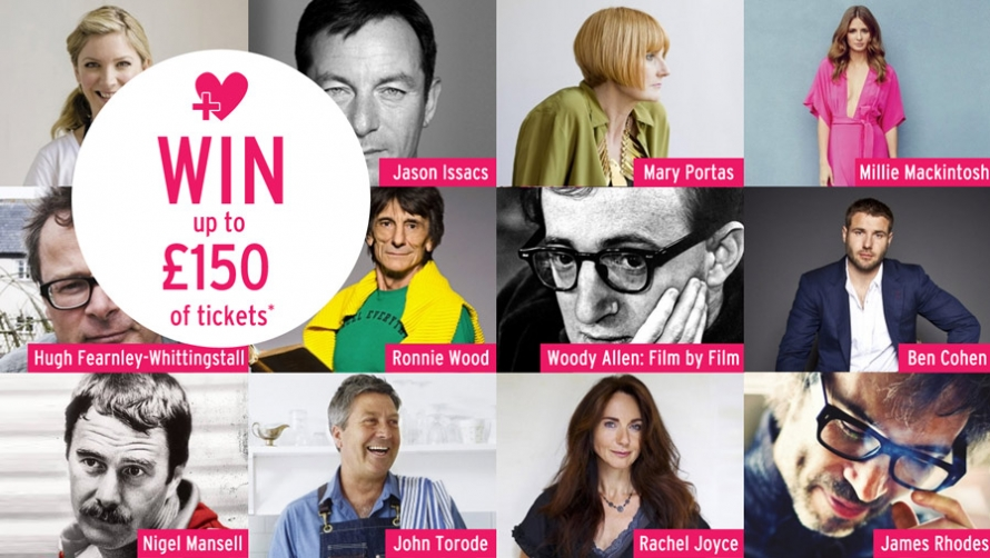 WIN up to £150 of #cheltlitfest tickets